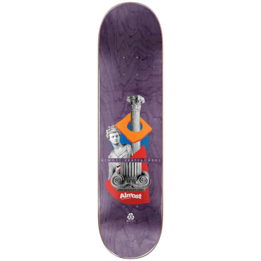 """Almost Skateboards - 8.0"""" Relics Youness Amrani Pro Deck (Green)   Deck by Almost Skateboards 2"""
