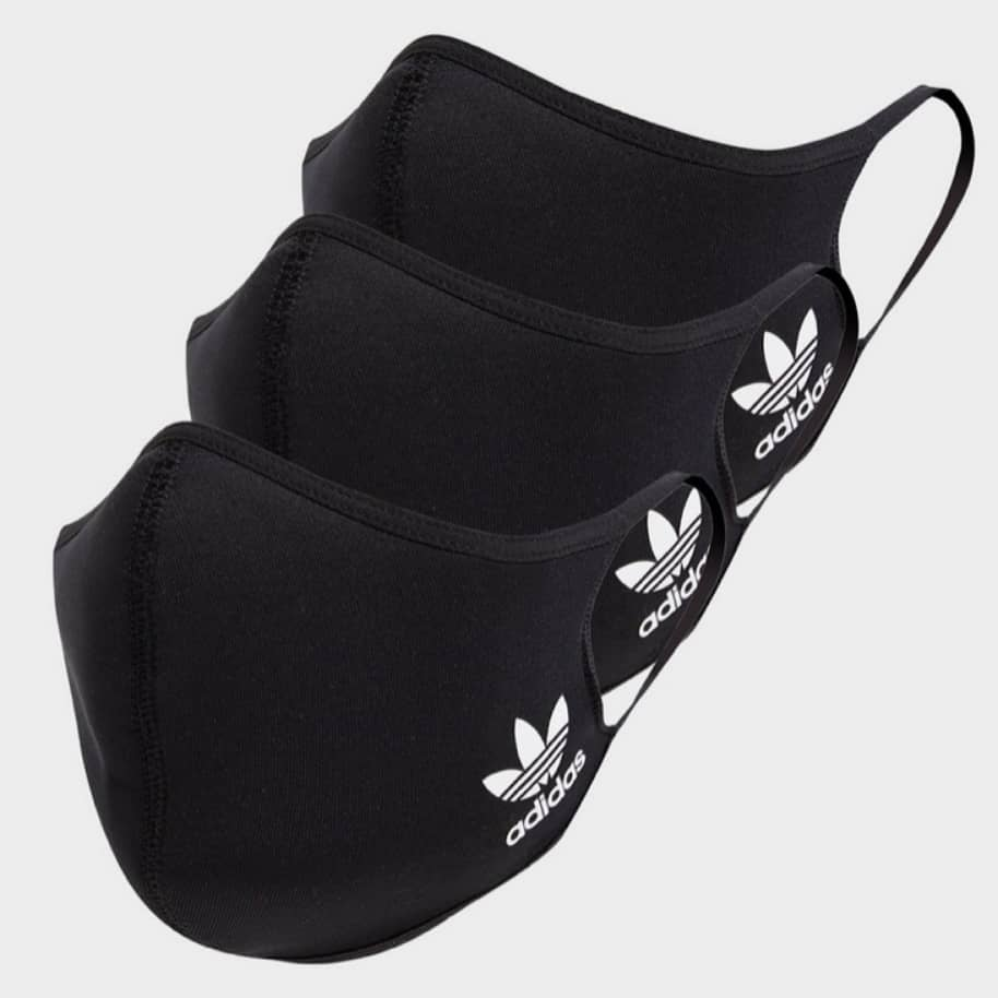 Adidas - Face Covers 3 Pack - Black | Face Mask by adidas Skateboarding 1