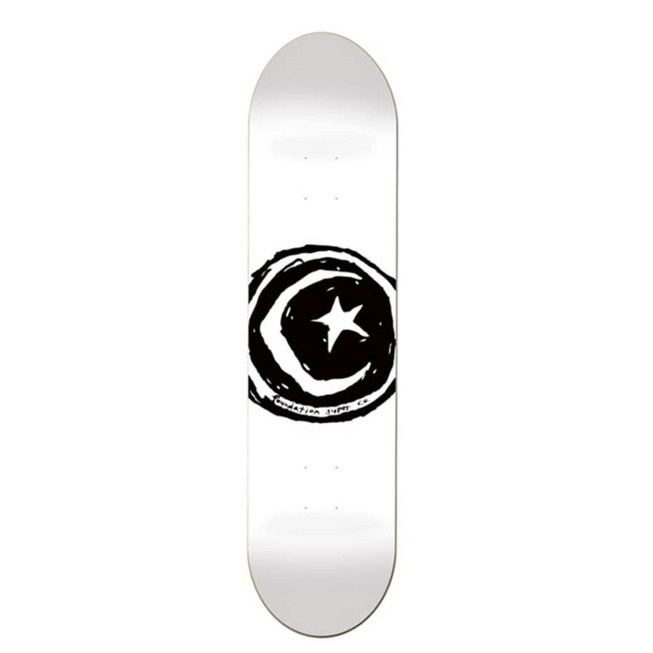 Foundation Star & Moon White Deck 8.5   Deck by Foundation 1