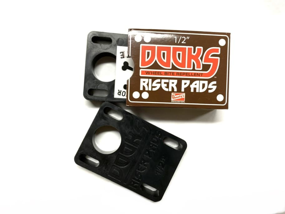 """Shorty's Dooks Riser Pads Black 1/2"""" or .5"""" 