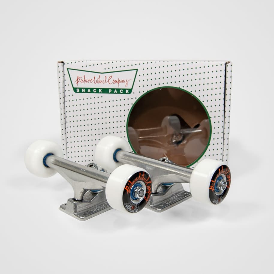 Picture - 5.5 Snack Pack Skateboard Undercarriage Kit | Trucks by Picture Wheel Company 1