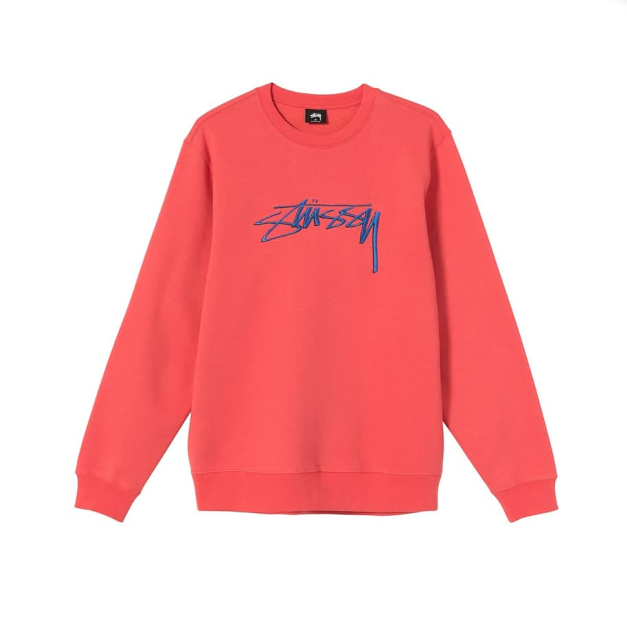 Stussy Smooth Stock Embroidered Crew Neck   Sweatshirt by Stüssy 1