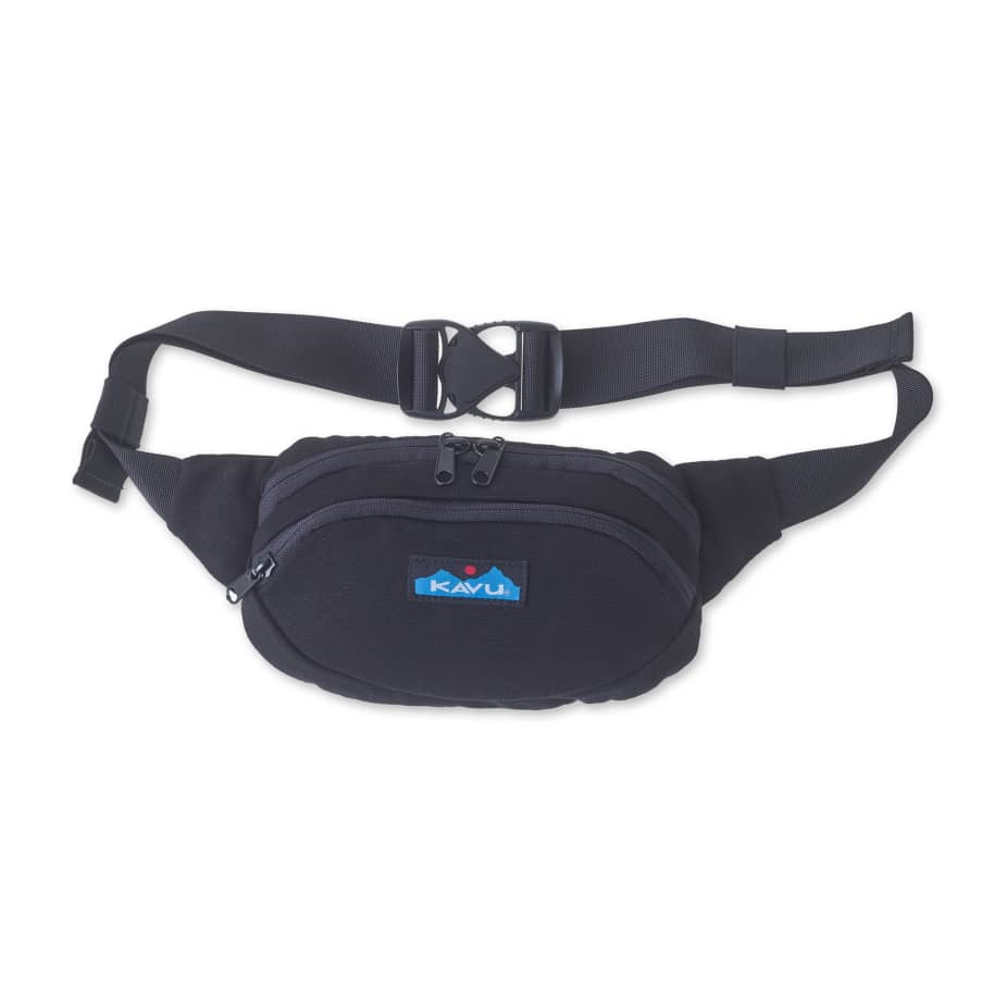 Kavu Canvas Spectator Belt Bag - Black | Hip Bag by Kavu 1