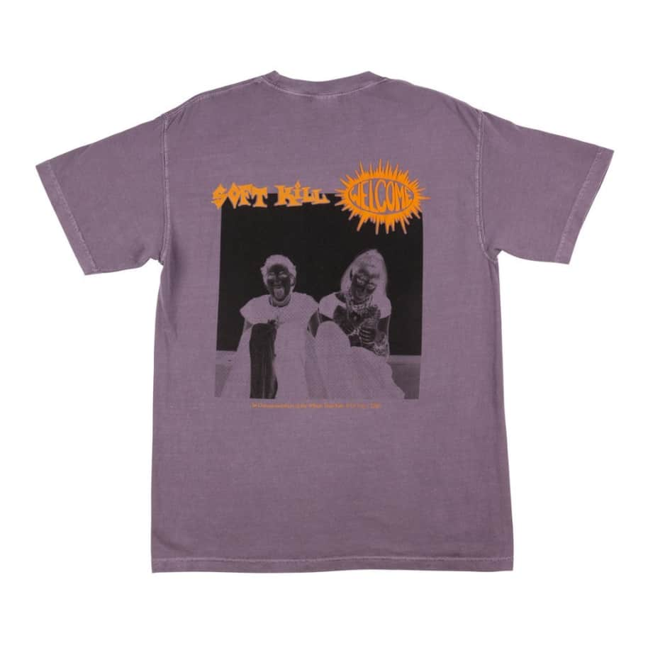 Welcome Soft Kill Garment Tee wine | T-Shirt by Welcome Skateboards 1