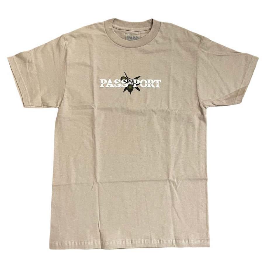 Passport Tee Olive Puff Sand   T-Shirt by Pass~Port Skateboards 1
