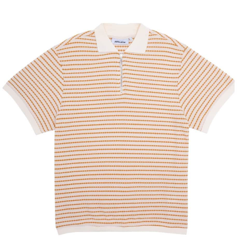 Fucking Awesome School Day 1/4 Zip Shirt - Gold / White | Polo Shirt by Fucking Awesome 1