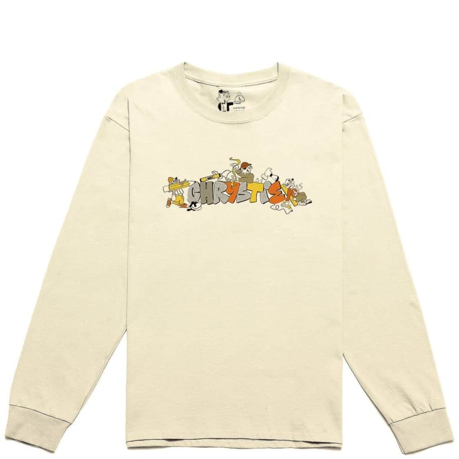 Chrystie NYC NYC Workers Long Sleeve T-Shirt - Natural | Longsleeve by Chrystie NYC 1