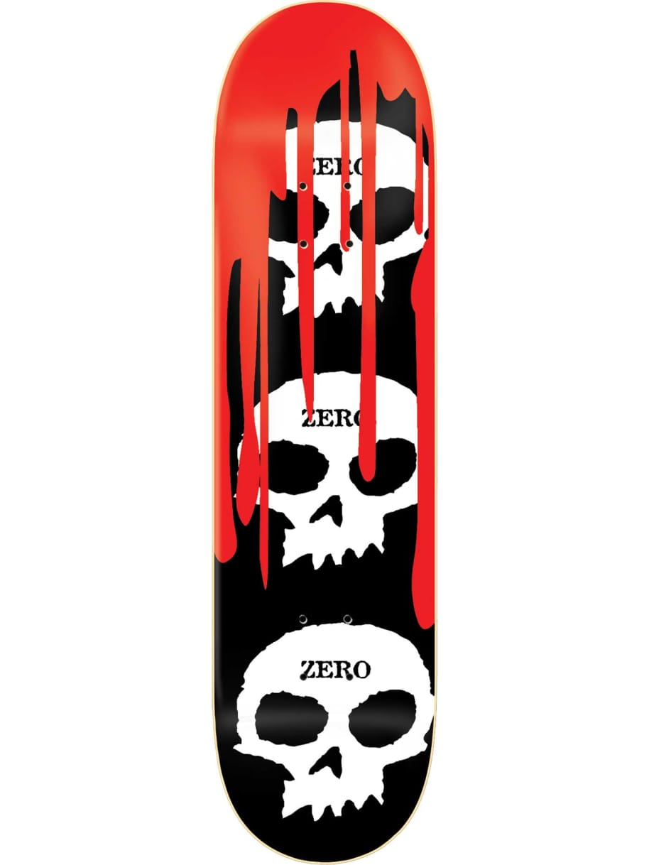 Zero 3 Skull Blood Deck 8.0 | Deck by Zero Skateboards 1
