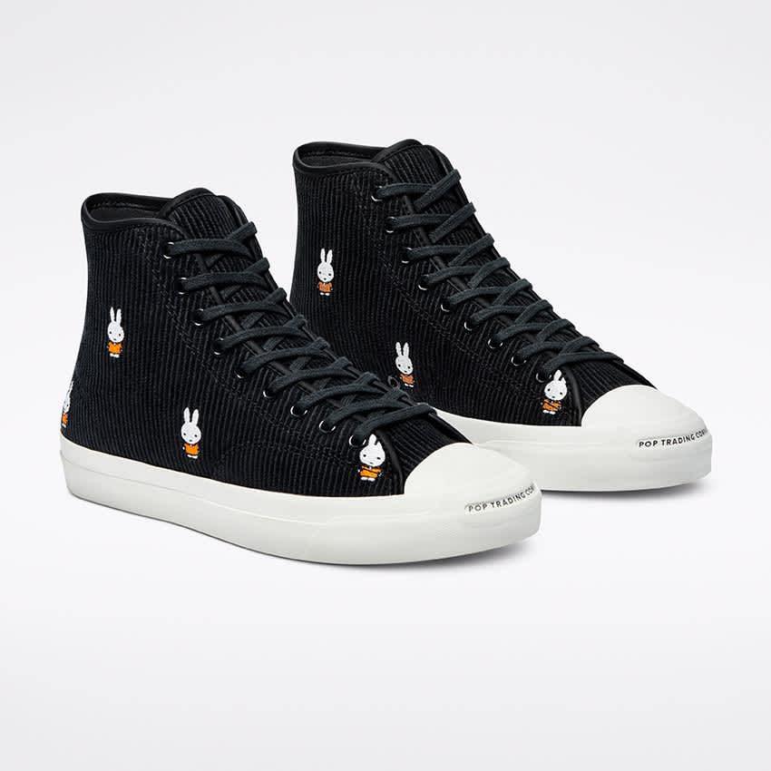 Converse CONS Pop x Miffy JP Pro Hi Cord Shoes - Black / White / Egret   Shoes by Converse Cons 2