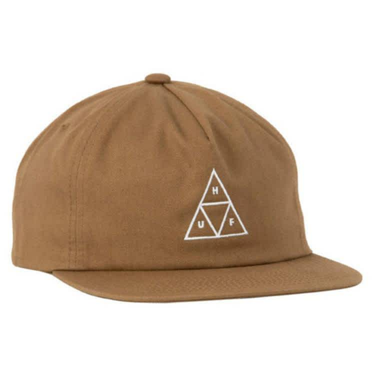 HUF Unstructured Triple Triangle Snapback Cap Toffee | Snapback Cap by HUF 1