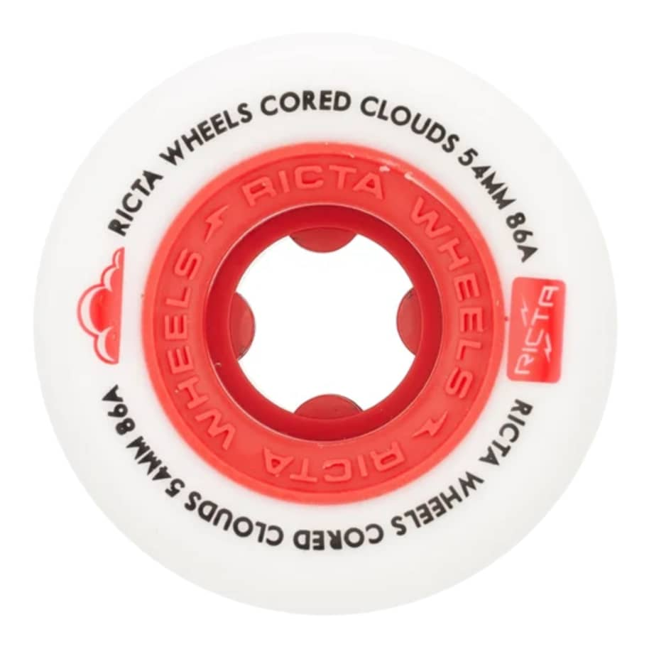 Ricta Cored Clouds Red 86a 54mm Wheels | Wheels by Ricta Wheels 1