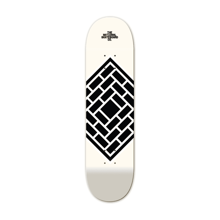 """CLASSIC CREAM - 8.125""""   Deck by The National Skateboard Co. 1"""