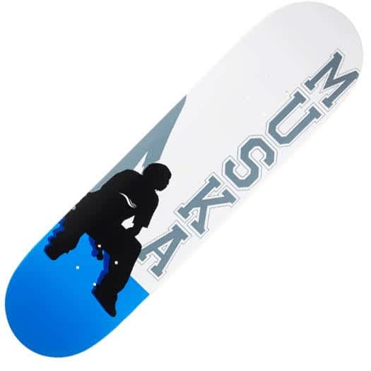 """Shorty's Muska Silhouette reissue deck (8.125"""", blue) 
