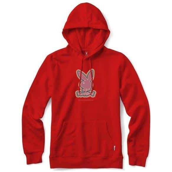 Color Bars x Playboy Tokyo Rabbit Head Hoodie - Red | Hoodie by Color Bars 1