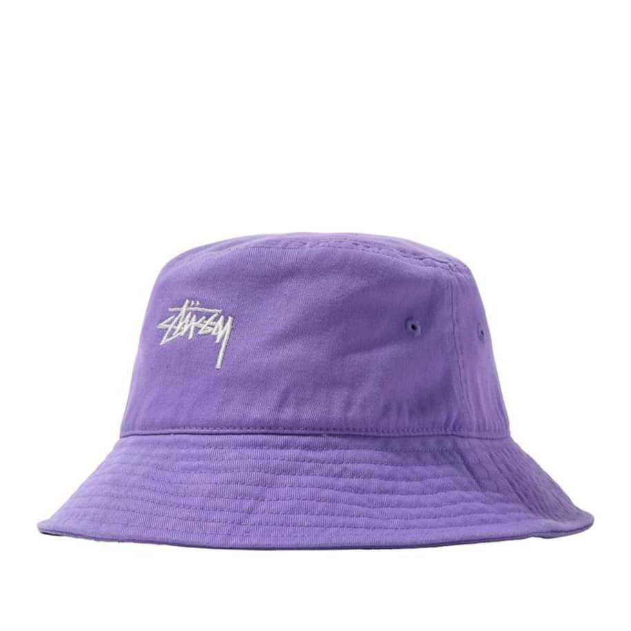 Stüssy Stock Logo Bucket - Violet   Bucket Hat by Stüssy 1