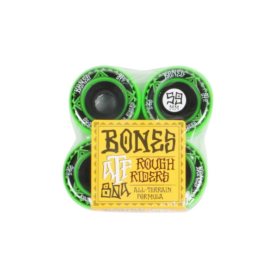 80A ATF Rough Riders - Green - 59mm | Wheels by BONES 1