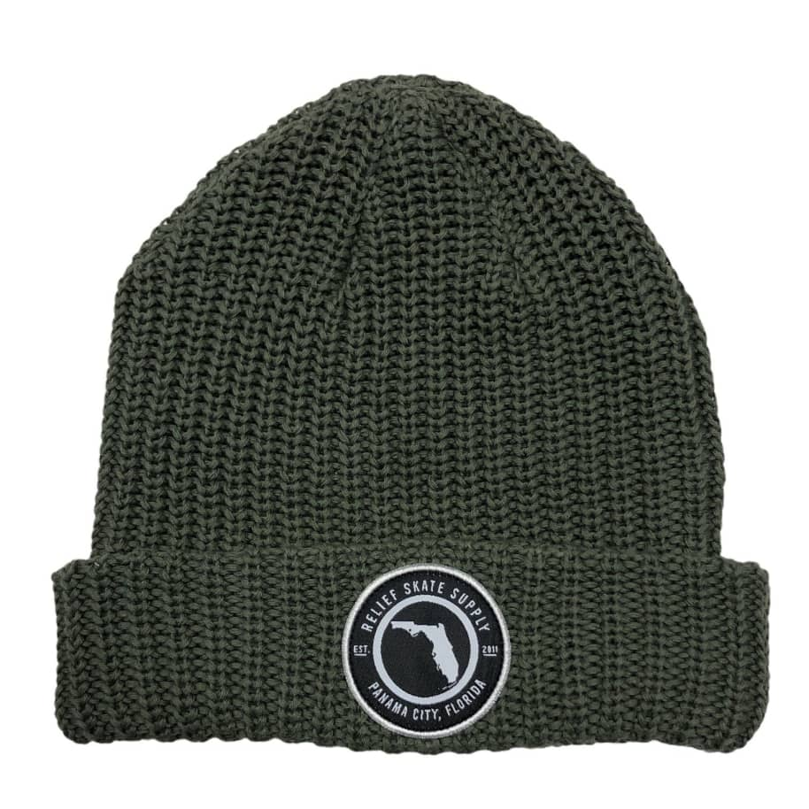 RELIEF FLORIDA BEANIE OLIVE   Beanie by Relief Skate Supply 1