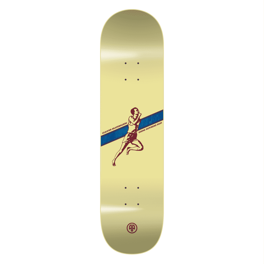 """Cleaver Skateboards - 8.25"""" Going Nowhere Fast Deck - Yellow 