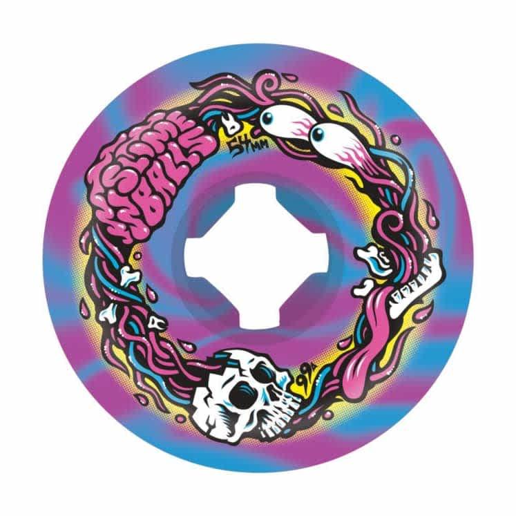Brains Speed Balls Swirls   99A 54mm   Wheels by Santa Cruz Skateboards 1