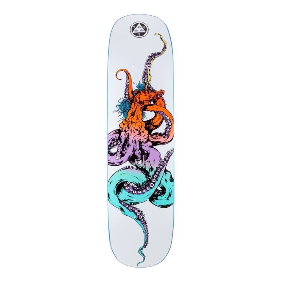 """Welcome Skateboards Seahorse 2 On Amulet Shaped Skateboard Deck 8.125""""   Deck by Welcome Skateboards 1"""