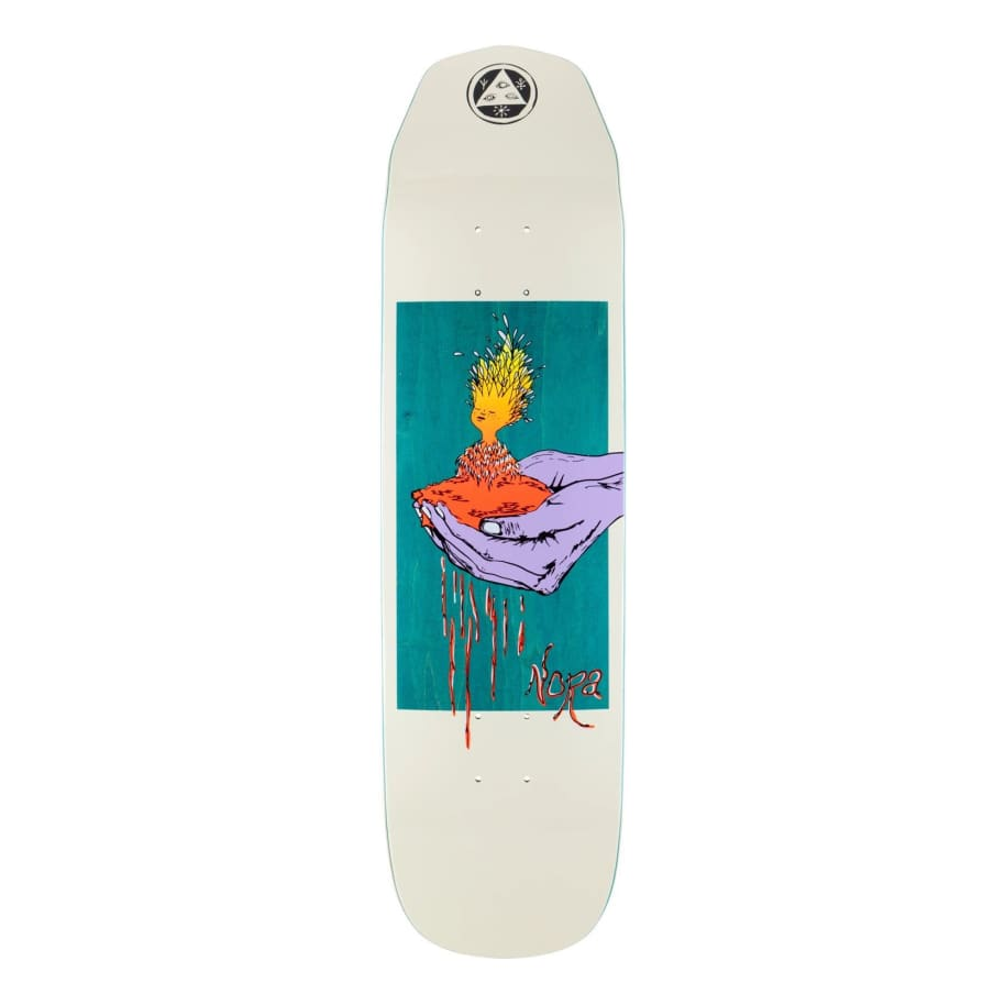 """Welcome Soil On Wicked Princess Deck Bone/Teal (8.125"""")   Deck by Welcome Skateboards 1"""