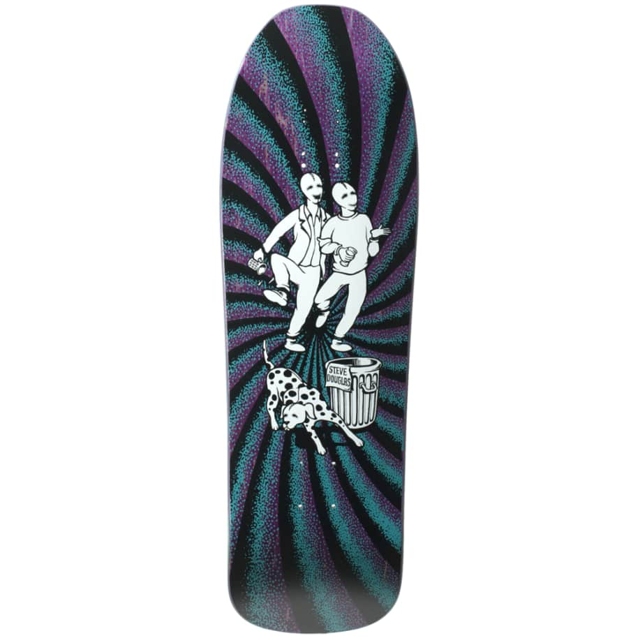 """New Deal Douglas Chums Reissue Screen Printed Deck 9.75"""" (Purple)   Deck by New Deal Skateboards 1"""