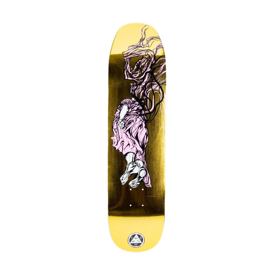 Welcome Transcend on Son of Moontripper Gold Foil   Deck by Welcome Skateboards 1