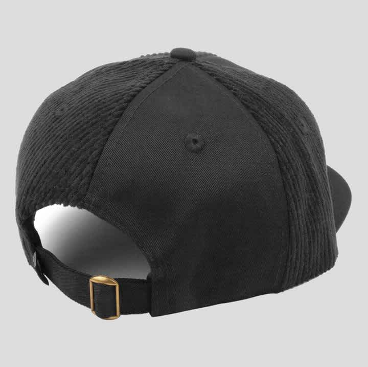 Pass~Port Cord Patch 6 Panel Cap - Black | Baseball Cap by Pass~Port Skateboards 3