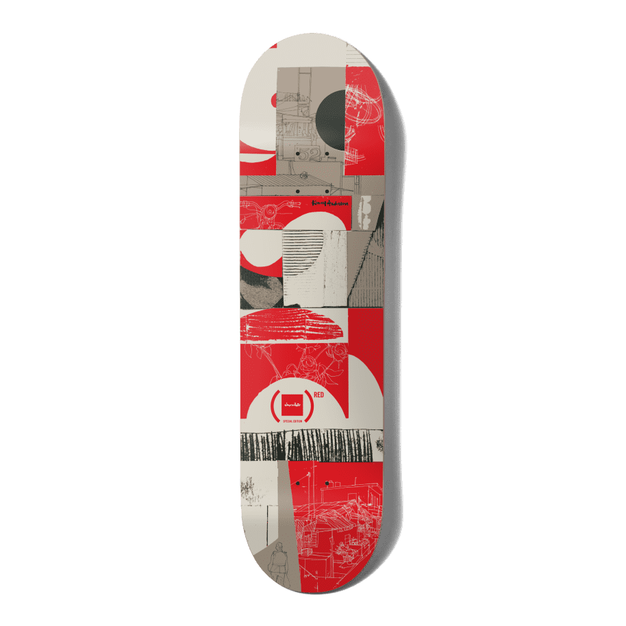 """Chocolate (RED) Kenny Anderson Skateboard Deck - 8""""   Deck by Chocolate Skateboards 1"""