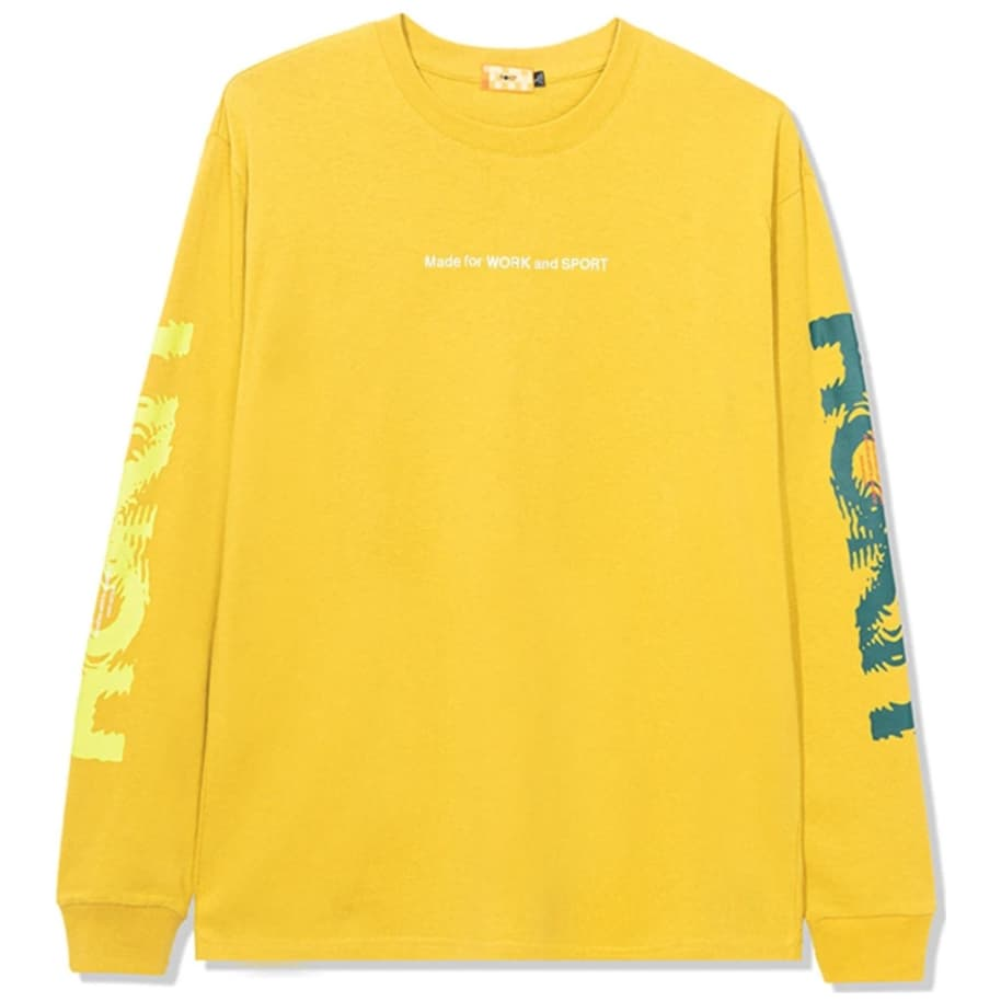ROKIT Ripple Long Sleeve T-Shirt - Yellow | Longsleeve by ROKIT 1