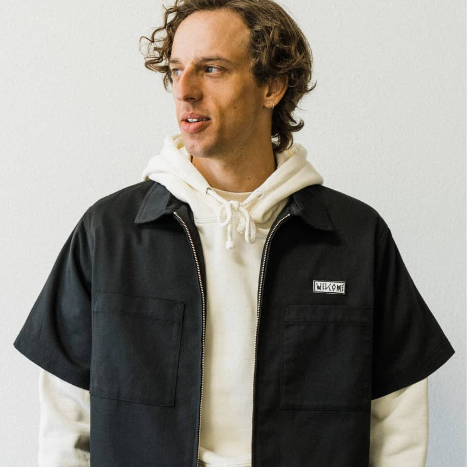 BAPHOLIT ZIP-UP WORKSHIRT | Polo Shirt by Welcome Skateboards 3