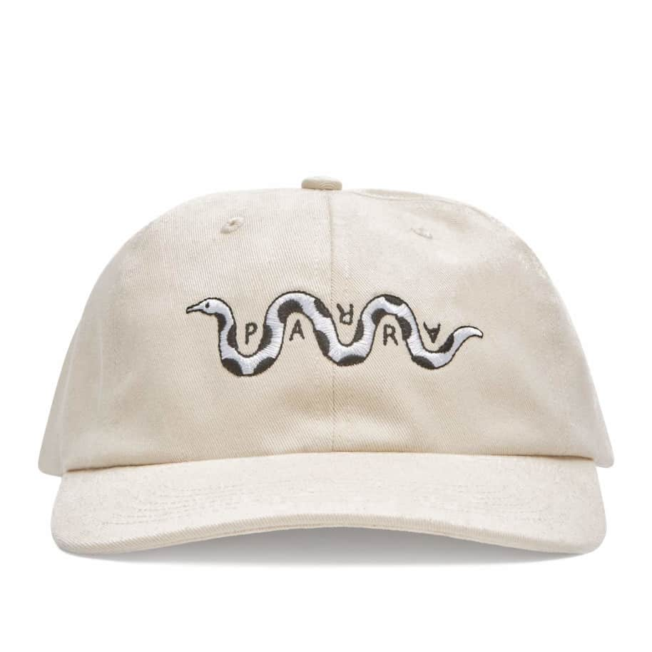 by Parra Snaked 6 Panel Hat - Off White | Panel Hat by by Parra 1