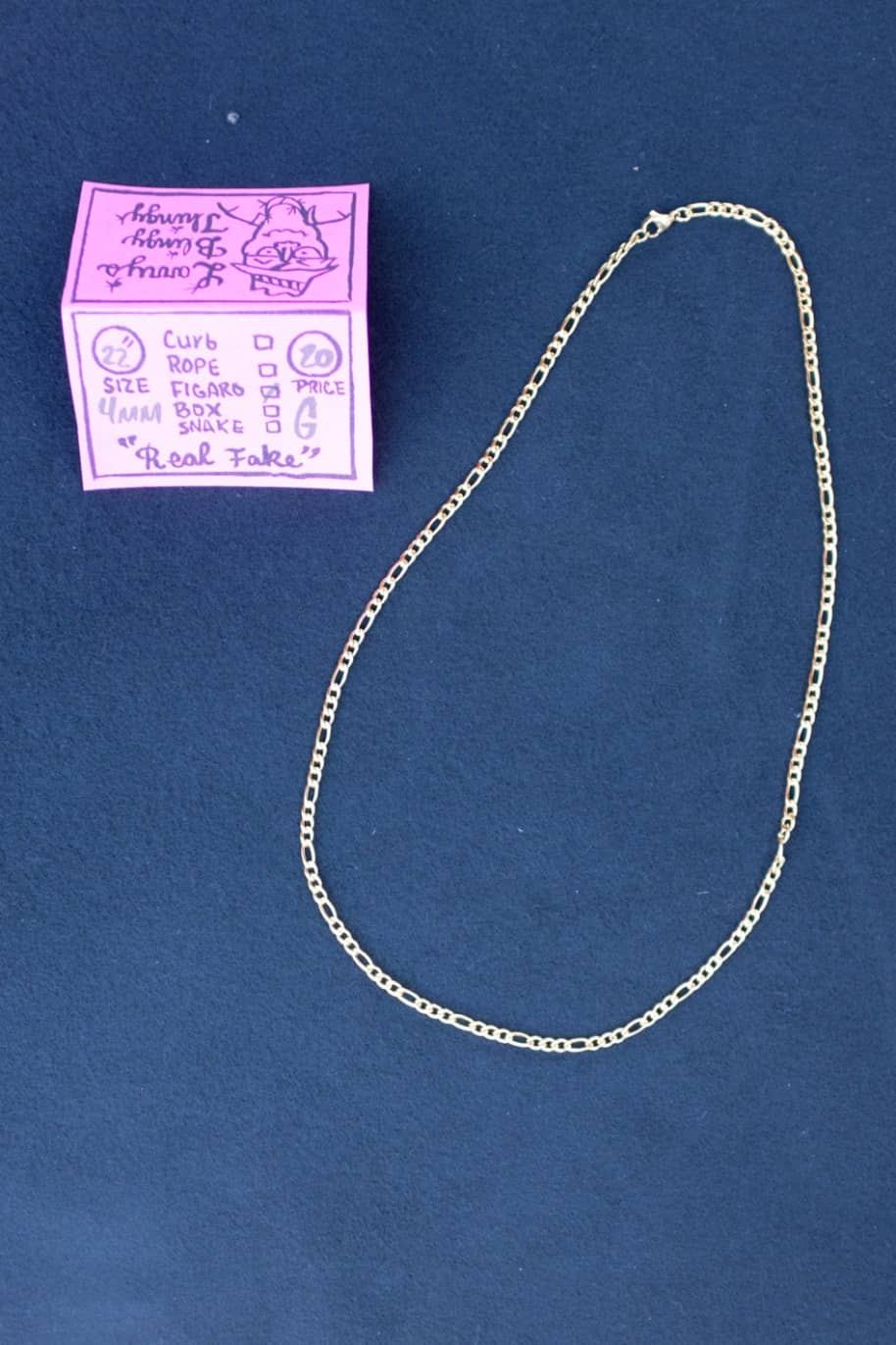 Figaro Necklace 22 inch 4 mm - Gold | Jewellery by Larry's Blingy Thingy 1