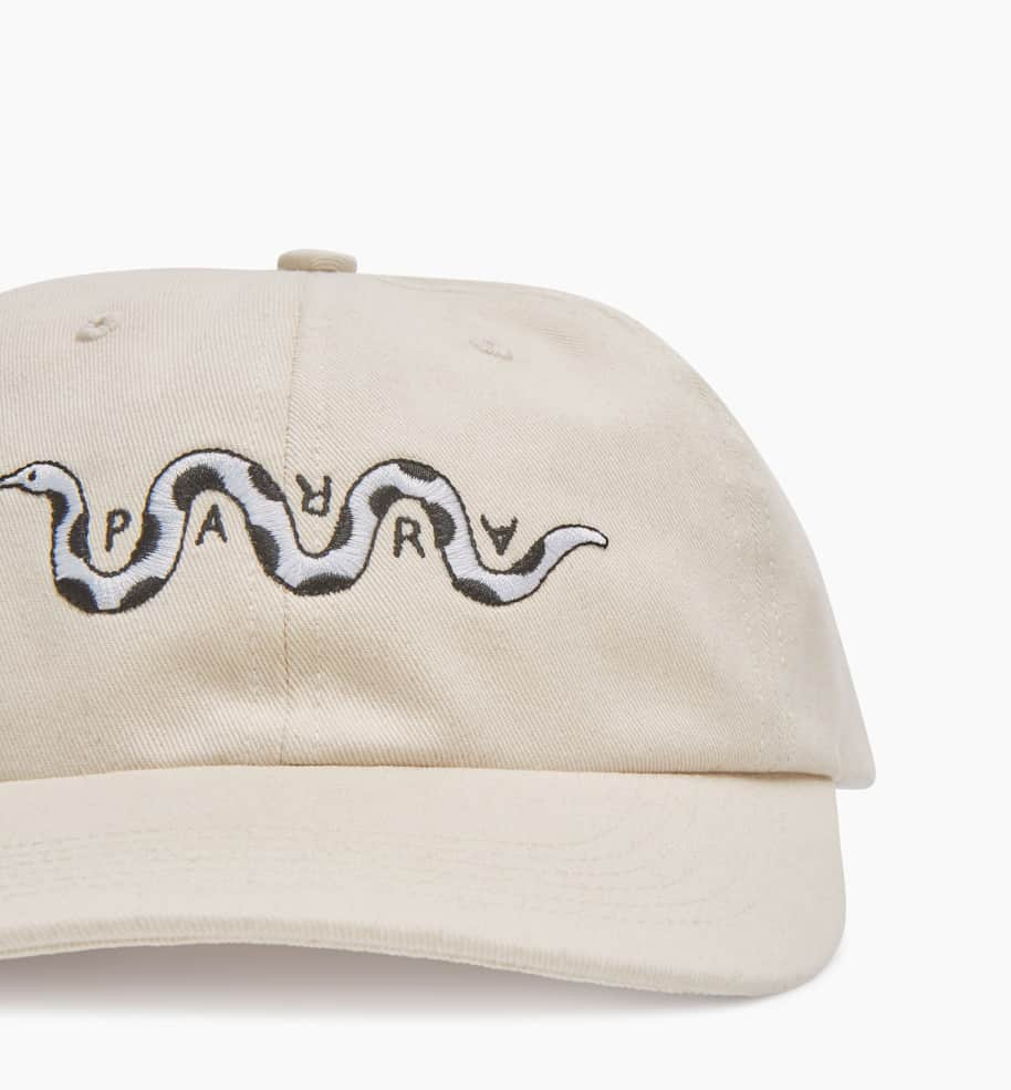 by Parra Snaked 6 Panel Hat - Off White | Panel Hat by by Parra 4
