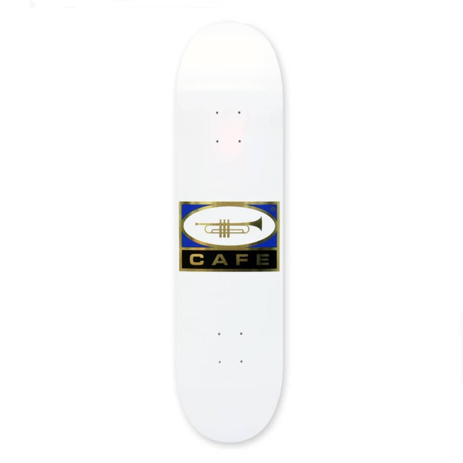 Skateboard Cafe - Skateboard Cafe Trumpet Logo Deck White & Gold | 8.5"
