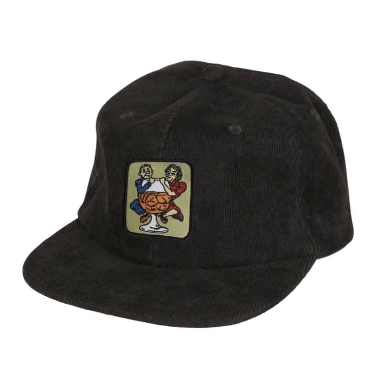 Pass~Port With A Friend 5 Panel Cap - Black | Baseball Cap by Pass~Port Skateboards 1