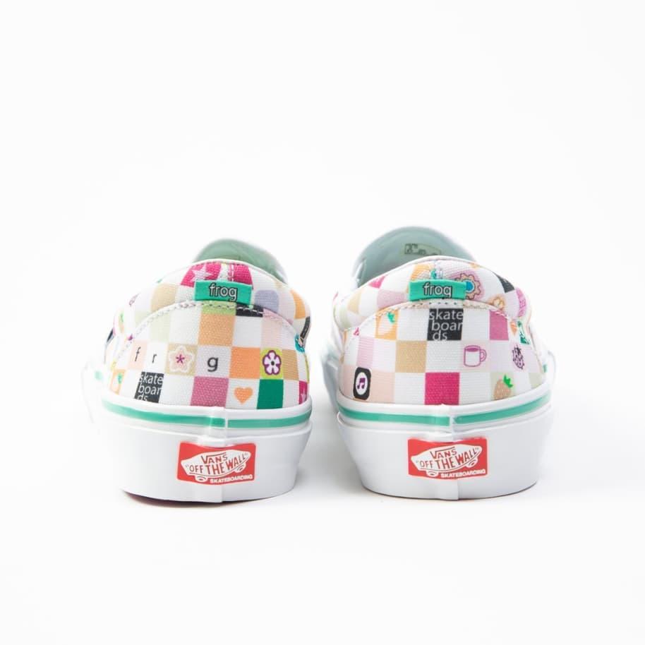 Vans x Frog Skate Slip-On Pro Skate Shoes - White / White | Shoes by Vans 4