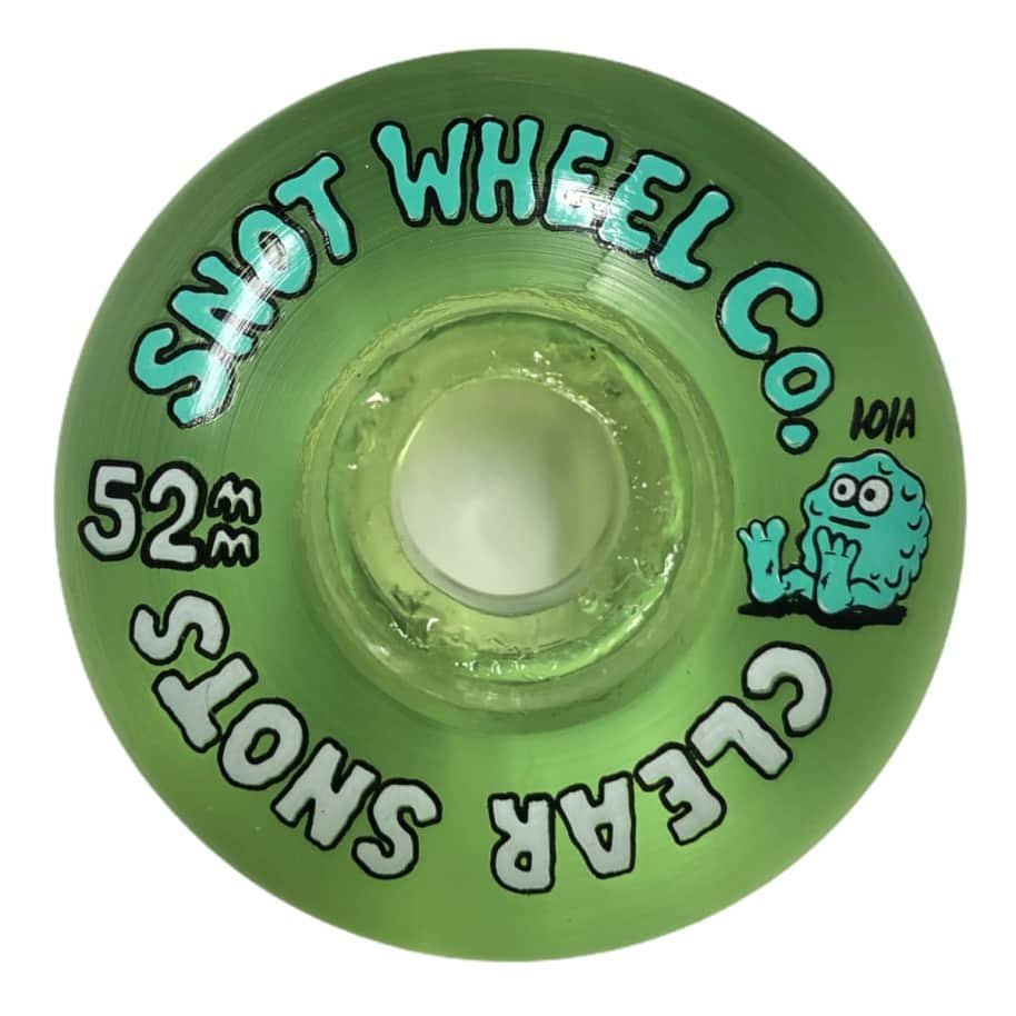 Snot Wheel Co Clear Snots 52MM 101A - Clear Green   Wheels by Snot Wheels 1
