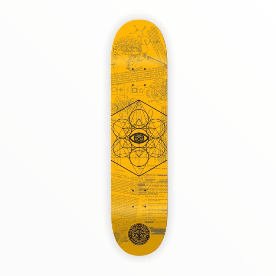 "Karma MKUltra Yellow Skateboard Deck 8.25"" | Deck by Karma 1"