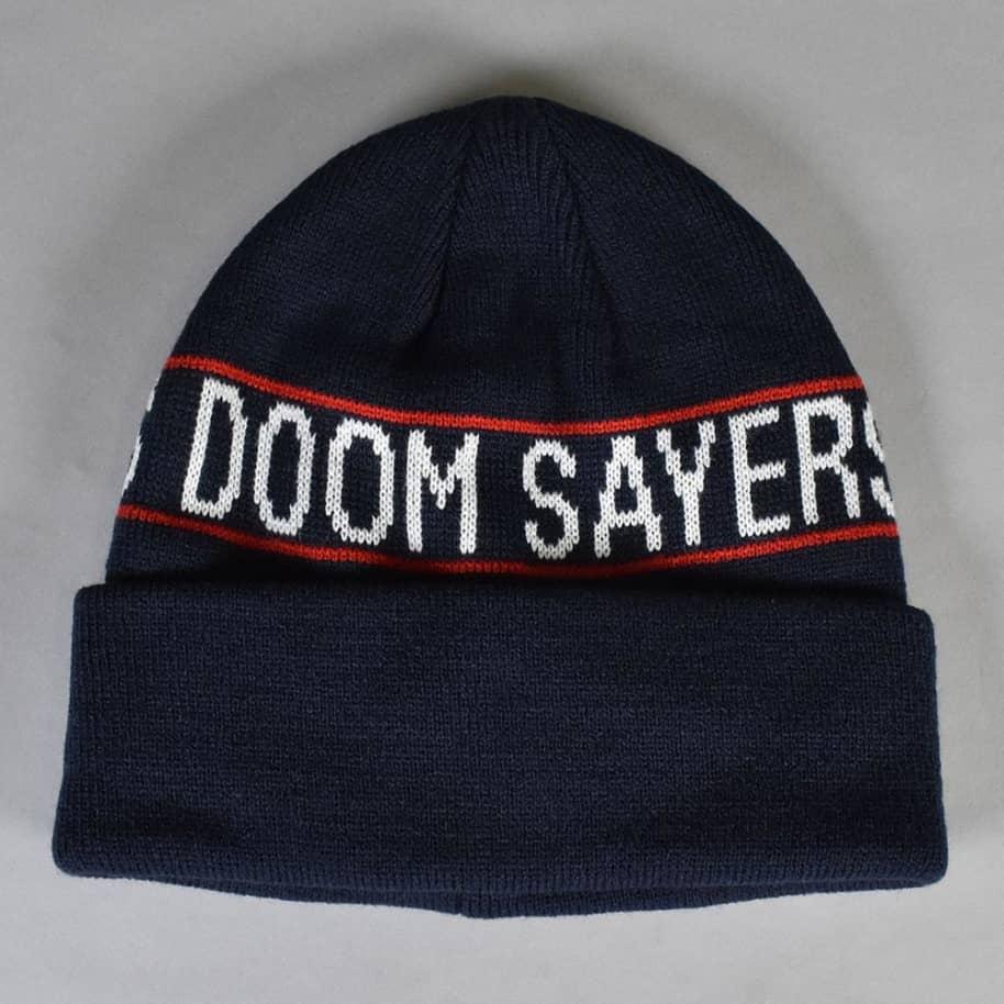 Doom Sayers - Wrap Beanie - Navy/Red | Beanie by Doom Sayers Club 1