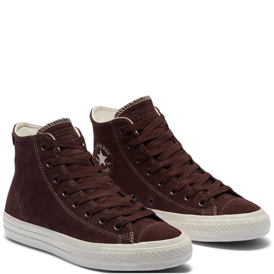 Converse CONS CTAS Pro High Top Suede Shoes - Dark Root / Egret   Shoes by Converse Cons 3