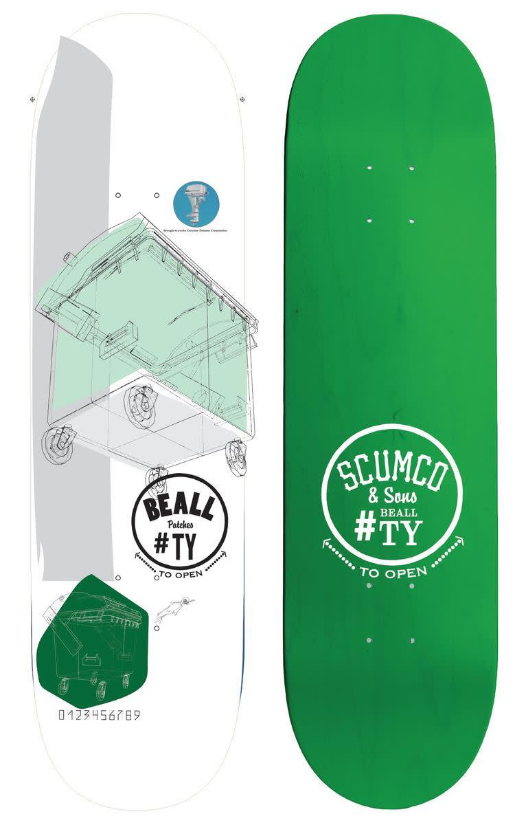 Scumco Ty Beall Dumpster Diver 8.375 | Deck by Scumco Skateboards 1