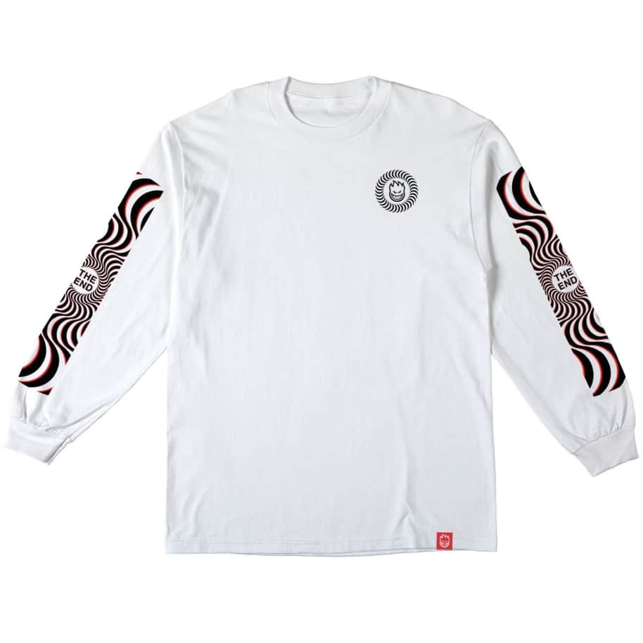 Spitfire Classic Swirl Overlay Long Sleeve Shirt (White/Black/Red) | Longsleeve by Spitfire Wheels 2