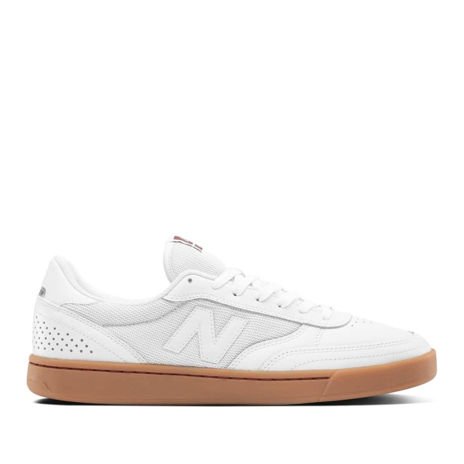 New Balance Numeric 440 Skate Shop Day Shoes - White / Burgundy | Shoes by New Balance 1