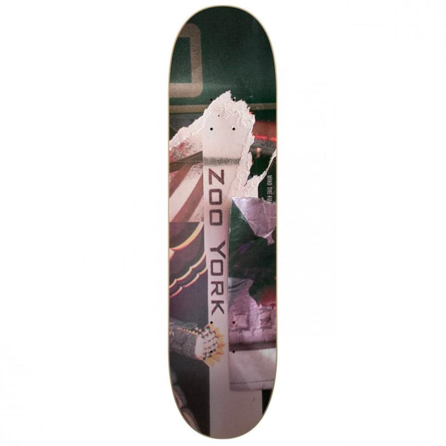 """Zoo York - Bank Gothic Deck 8"""" Wide 