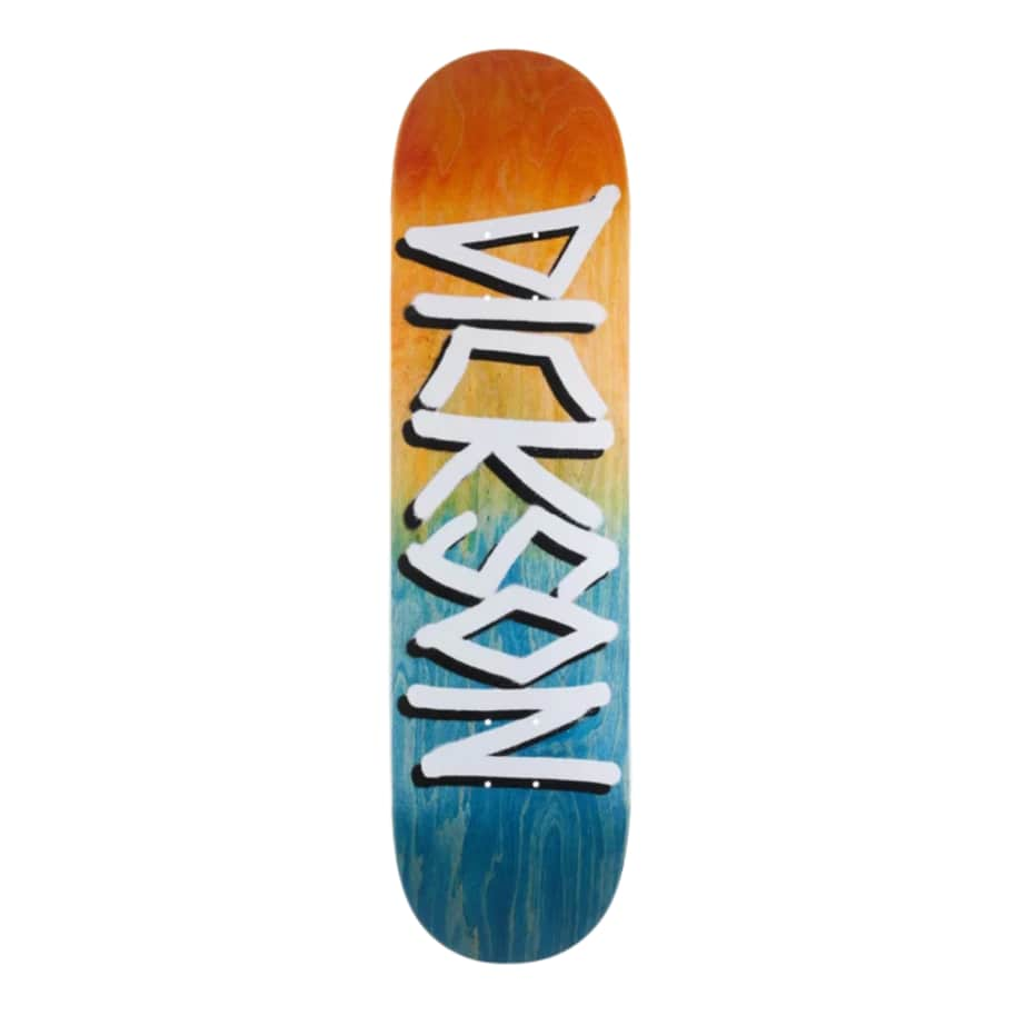 """Deathwish Dickson Gang Name Org/Nvy Deck 8.25"""" 