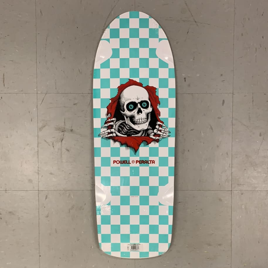 Powell Peralta Skateboards Ripper White Mint Checker Re-Issue 10.0 Deck   Deck by Powell Peralta 1