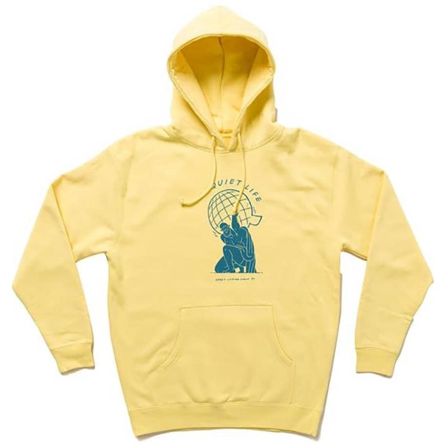 The Quiet Life Atlas Hoodie - Yellow   Hoodie by The Quiet Life 1