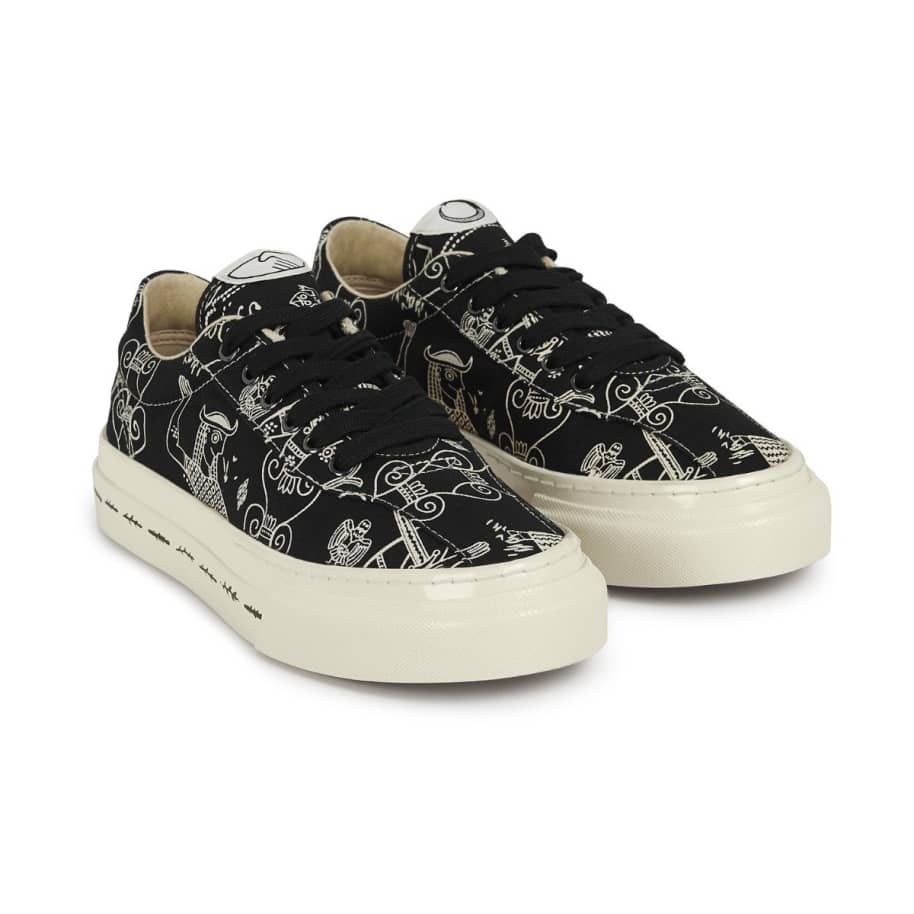 Stepney Workers Club x Endless Joy Dellow Womens Canvas Shoes - Gorgon | Shoes by Stepney Workers Club 2