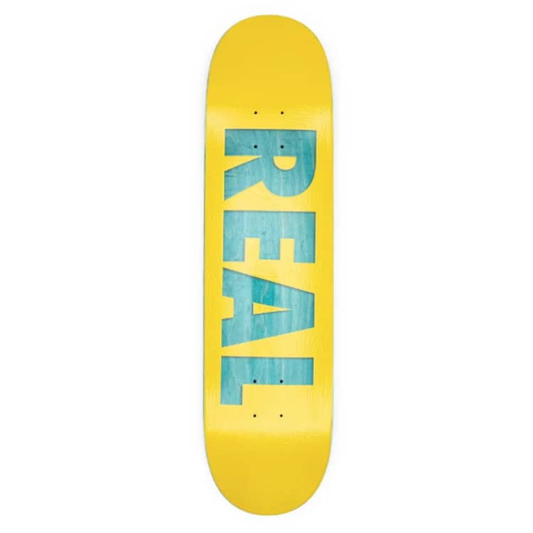 """Real Skateboards Bold Team Series Yellow Skateboard Deck 8.06"""" 